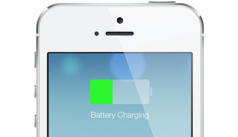 image of phone charging